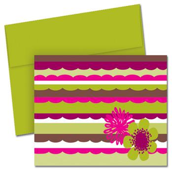 Organic Citrus Scallops Note Card