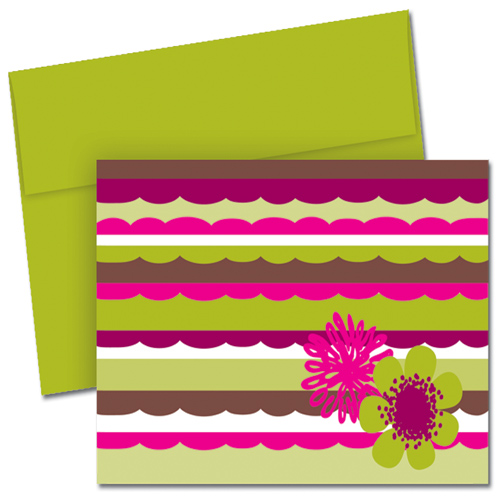 Organic Citrus Scallops Note Card