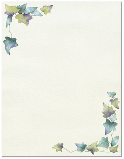 Painted Border Letterhead - 80 pack