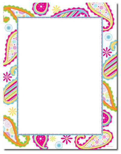 Patterned Paisley Letterhead - 25 pack