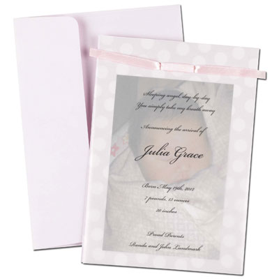 Pink Baby Dots Overlay Flat Cards