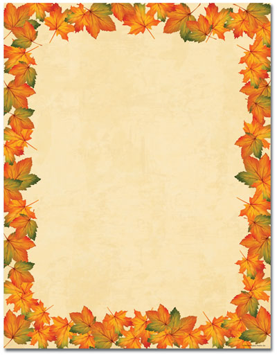 Painted Maple Leaves Letterhead - 80 pack