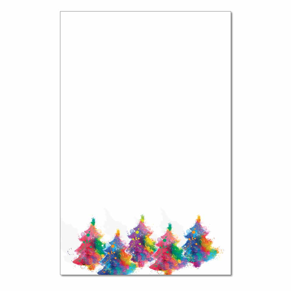 Painted Trees Jumbo Card, 48pk