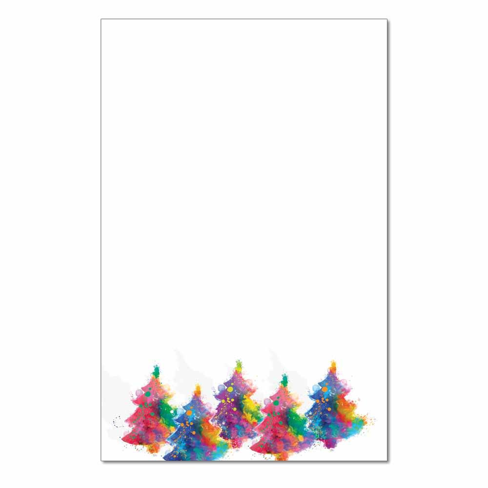 Painted Trees Jumbo Card, 48pk