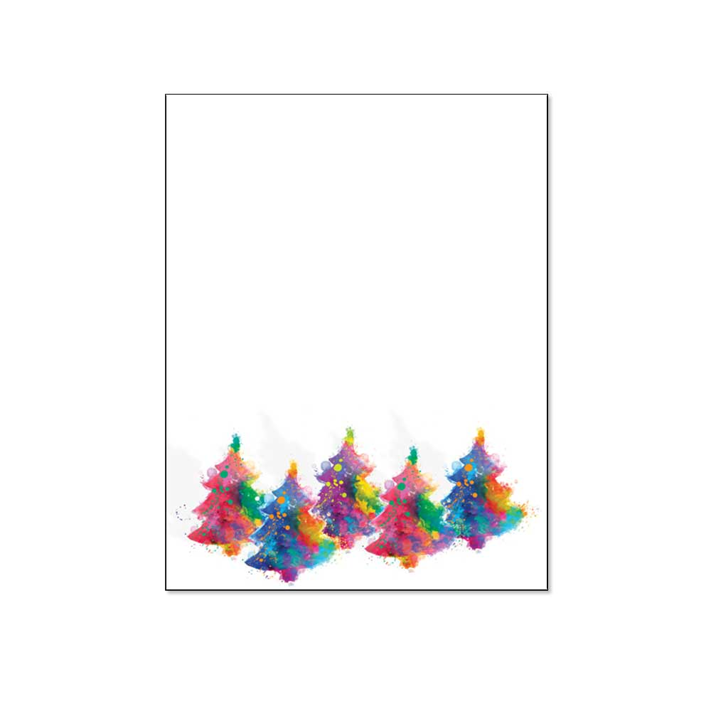 Painted Trees Post Card, 48pk