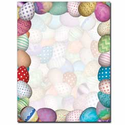 Painted Easter Eggs Letterhead - 25 pack