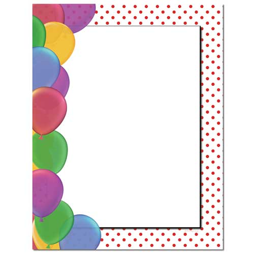 Party Balloons Stationery