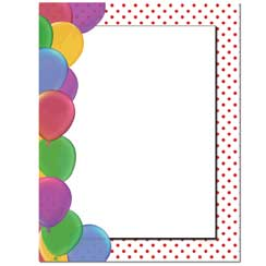Party Balloons Letterhead - 100 pack