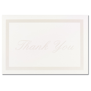 Pearl Border Ivory Thank You Note Cards