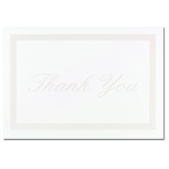 Pearl Border White Thank You Note Cards