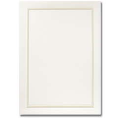 Pearl Border Ivory Flat Card