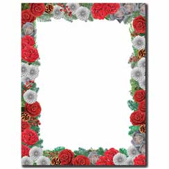 Pine & Flowers Letterhead - 25 pack