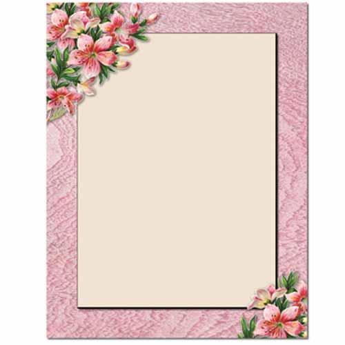Pink Lilies Letterhead