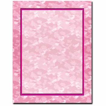 Pink Camo Letterhead
