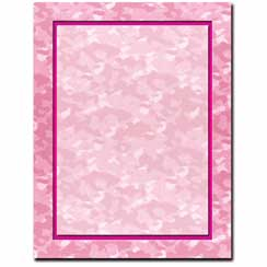 Pink Camo Letterhead - 100 pack