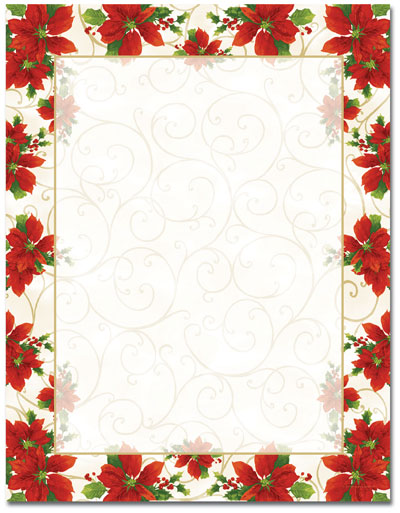 Poinsettia Swirl Letterhead