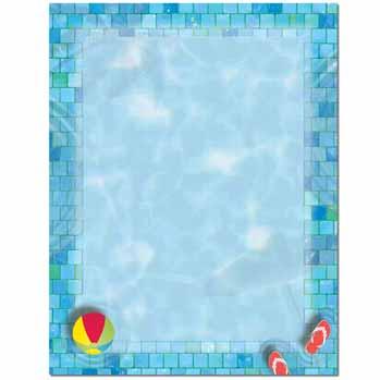 Pool Party Letterhead