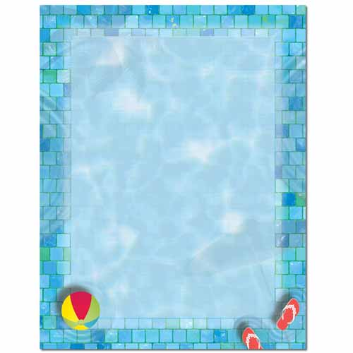 Pool Party Letterhead