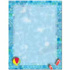 Pool Party Letterhead - 100 pack
