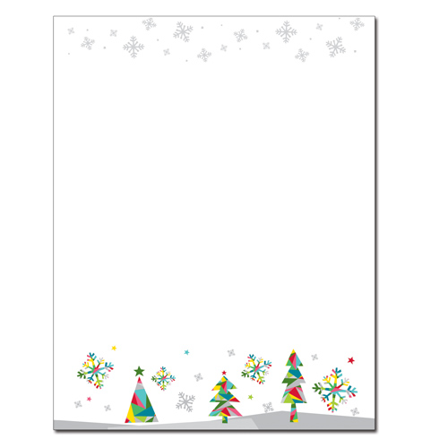 Prismatic Holiday Letterhead