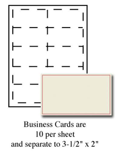 Red Border Business Cards