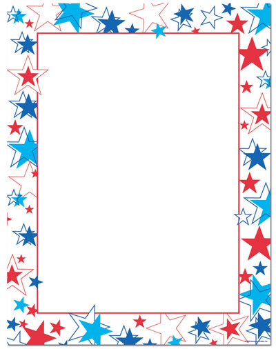 Red White Blue Stars Letterhead