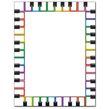 Rainbow Keyboard Letterhead