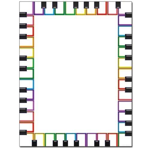 Rainbow-Keyboard-Music-Paper