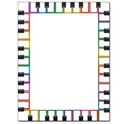 Rainbow Keyboard Letterhead - 25 pack