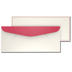Red Border Envelopes - 25 Pack