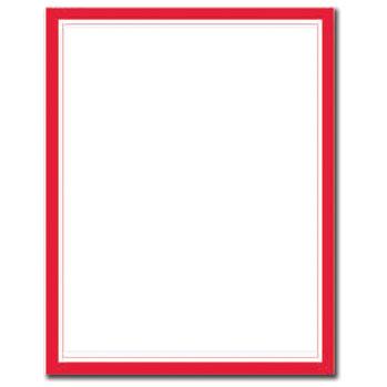 Red Border Letterhead