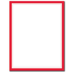 Red Border Letterhead  - 25 pack