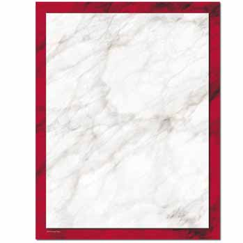 Red Marble Letterhead
