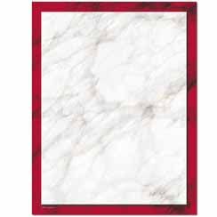 Red Marble Letterhead - 25 pack