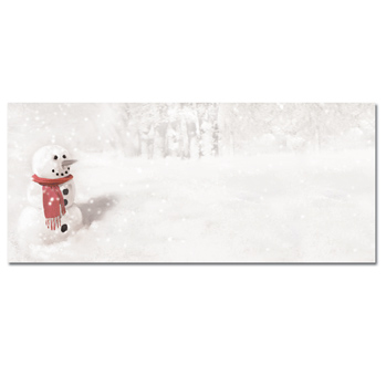 Snowman In Red Scarf Envelopes