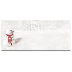 Snowman In Red Scarf Envelopes - 25 Pack