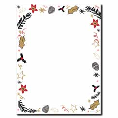 Retro Holiday Letterhead - 25 pack
