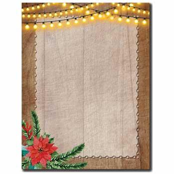 Rustic Holiday Letterhead