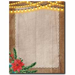 Rustic Holiday Letterhead - 25 pack