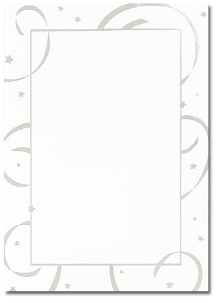 Silver Stars & Streamers Flat Card