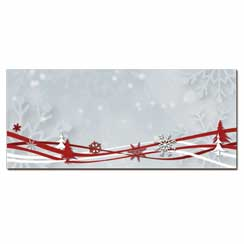 Snowflake & Ribbons Envelope - 25 Pack