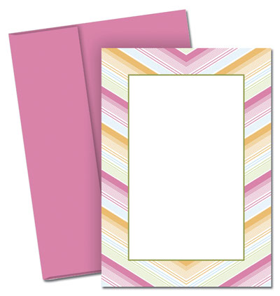 Soft Chevron Invitations