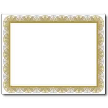 Spiral Gold Certificate