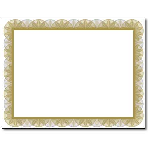 gold spiral certificate