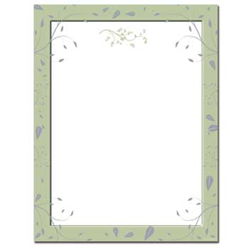 Sage Leaves Letterhead