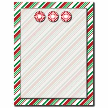 Seasonal Stripes Letterhead
