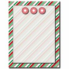Seasonal Stripes Letterhead - 100 pack