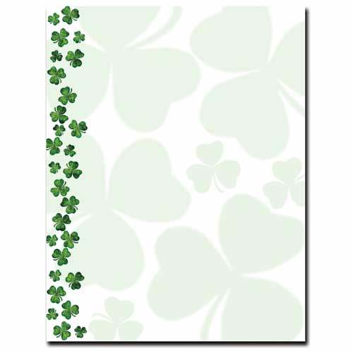 shamrock letterhead stationery