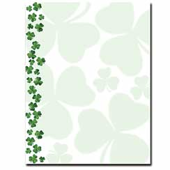 Shamrock Showers Letterhead - 25 pack
