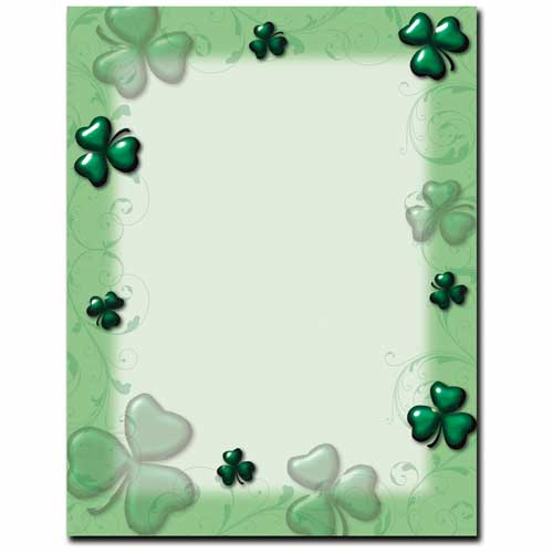 Shamrock Saint Patricks Day Stationery